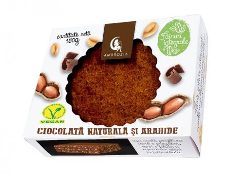 Prăjitură vegană cu ciocolată și arahide