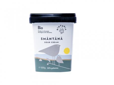 Smântână Ecologică 32% grăsime Bioforia